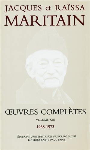 Oeuvres complètes n°17 - Jacques Maritain